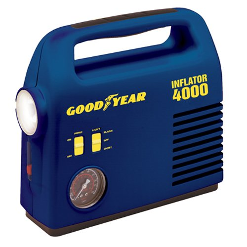 Goodyear i4000 12-Volt Tire Inflator with 4-Way Emergency Light