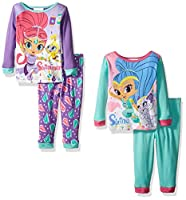 Nickelodeon Baby Shimmer and Shine 4-Piece Pajama Set, Assorted, 18 Months