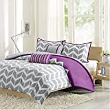 Intelligent Design Nadia Comforter Set, Twin/ Twin X-Large, Purple