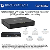 Grandstream GVR3552 Network Video Recorder (NVR) provides video recording