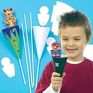 Amazon.com: Craft – Cono Kits de títere para niños Para ...