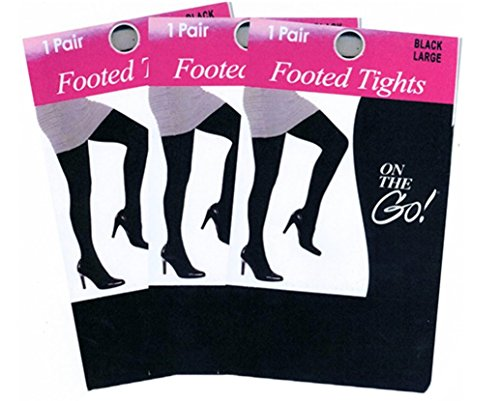 Opaque Footed Tights - 3 Pairs Women's Opaque Footed Tights …