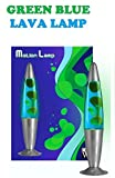 16-inch Peaceful Relaxation Lava Lamp (green blue)