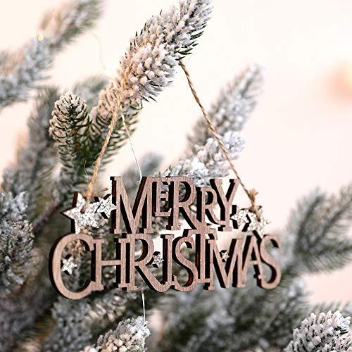 Gotian DIY Merry Christmas Tree Pendant Wooden Ornament Xmas Tree Hanging Tags Pendant Decor (A) from Gotian