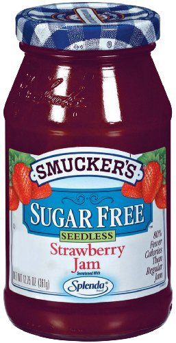 Smucker's Sugar Free Seedless Strawberry Jam, 12.7500-Ounce (Pack of 6) by Smucker's (Jam Sugar Free Strawberry)