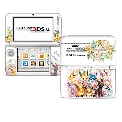Ci-Yu-Online Eevee Evolutions Family White Limited Edition VINYL SKIN STICKER DECAL COVER for Nintendo 3DS XL / LL Console System