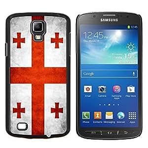 EJOOY---Cubierta de la caja de protección para la piel dura ** Samsung Galaxy S4 Active i9295 ** --Nacional bandera de la nación País Georgia