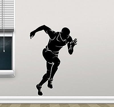 Runner Wall Decal Running Run Print Gym Fitness Workout Sport Poster Vinyl Sticker Kids Teen Boy Room Nursery Bedroom Wall Art Decor Mural 92nnn