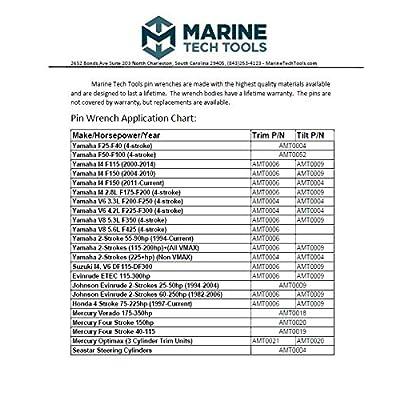Marine Tech Tools Outboard Trim/Tilt Pin Wrench Set, Yamaha, Suzuki, Johnson, Evinrude: Sports & Outdoors