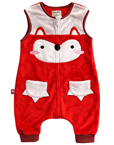 Vaenait Baby 1-7Y Cozy Warm Fleece Kids Girls Wearable Blanket Sleeper Miu Fox - M Miu