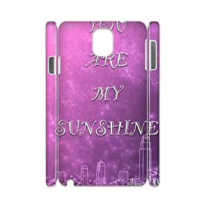 you are my sunshine DIY 3D Cell Phone Case for Samsung Galaxy Note 3 N9000,customized you are my sunshine Phone Case