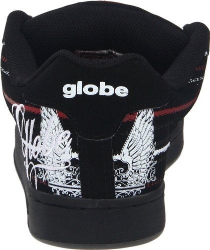 Globe Mens Focus Skate Schoen Zwart / Rood / Vleugels