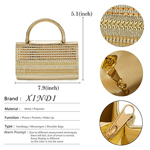 diamonds bag bags handle gold Women style2 shoulder Bag clutch evening Vintage handbags ladies crystal for FXRSxU