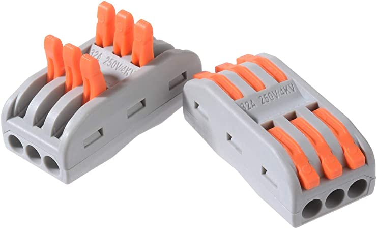 2 Agujero Terminal de conexi/ón Con clip de retenci/ón 10pcs 222 Bornas de conexi/ón,Conductor compacto Conectores