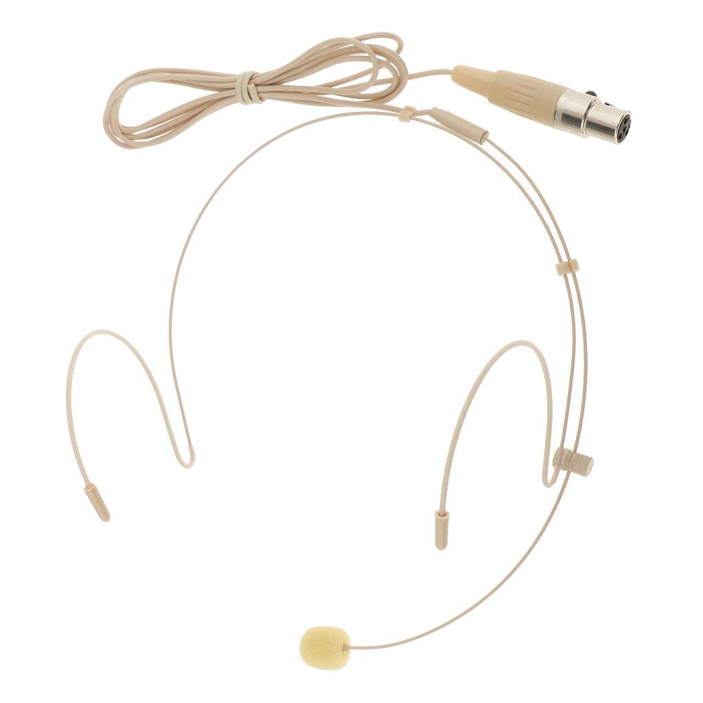 Sharplace Universale Gancio Auricolare Microfono A Testa Intestata Colore della Pelle - Beige-3pin