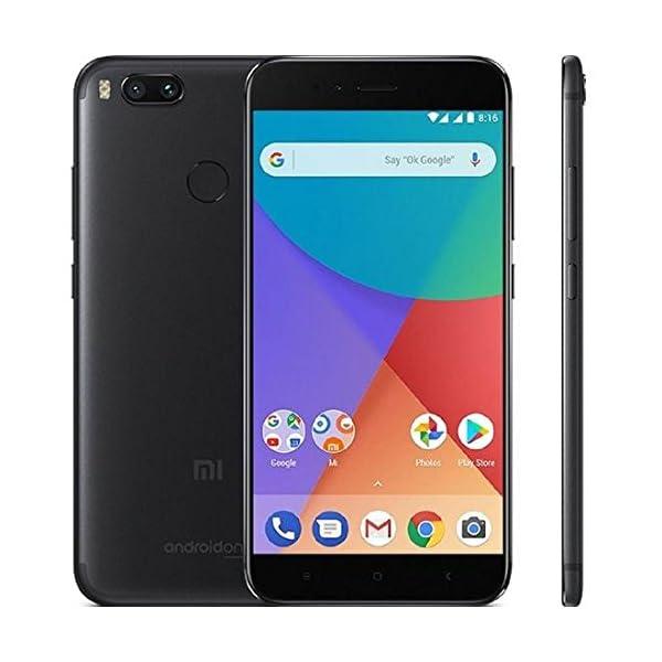 "Xiaomi MI A1 (64GB, 4GB RAM) with Android One & Dual Cameras, 5.5"" Dual SIM Unlocked, Global Version, No Warranty"