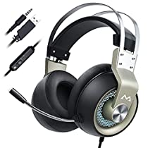 Mpow EG3 PRO Gaming Headset (All-Platform Edition), with Mic, 50mm Drivers, Bass Boost Surround Sound, In-line Control, Zero Fatigue Earpads, PC, PS4 Headset, LED Gaming Headphone for Xboxone, Switch