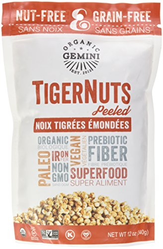 Organic Gemini Tigernut Raw Snack - Peeled 12 oz (340 grams) Pkg