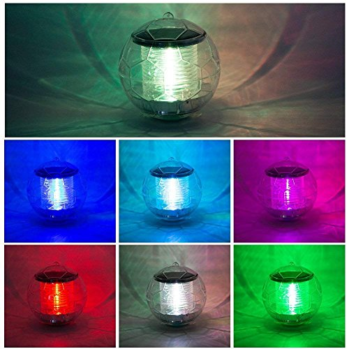 Solar Powered Color Changing Water Floating Ball Lamp Led Outdoor Underwater Light For Yard Pond Garden Pool Decoration Light Access Control Kits