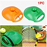 Ragdoll50 Tennis Ball Training Base, Single Tennis Training Tool Exercise Tennis Self-Study Rebound Ball with Tennis Trainer Baseboard Sparring Device