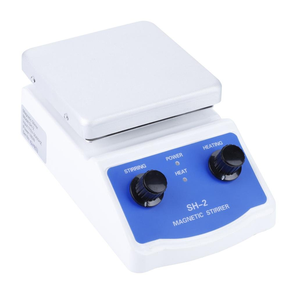 SH-2 Magnetic Stirrer,Heating Stirrering Machine,Laboratory Constant Temperature Stirrer Dual Control Magnetic Stirrer Mixer 220v+UK Plug UK Plug