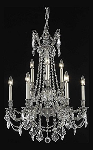 Crystal Pewter Chandelier - Rosalia Collection 9-Light 23