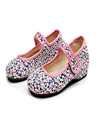 Tianrui Crown Girl's Lace Casual Traveling Shoes Sneaker Kid's Cute Mary-Jane Shoe