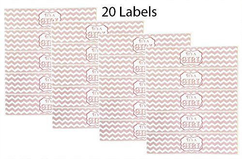 20 Baby Shower Water Bottle Labels Baby Shower Decorations Its A Girl Bottle Wraps Made in the USA POP parties by Gwynn Wasson Designs