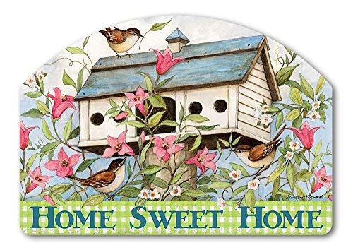 Studio M Yard Design Spring Birdhouse with Clematis Yard Sign - 14