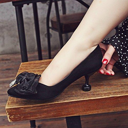De Para Tacón Black De Cerrado Fiesta Tacón De Sandalias PPFME De Satén Zapatos Mujer Con Alto IZwFz0Cq