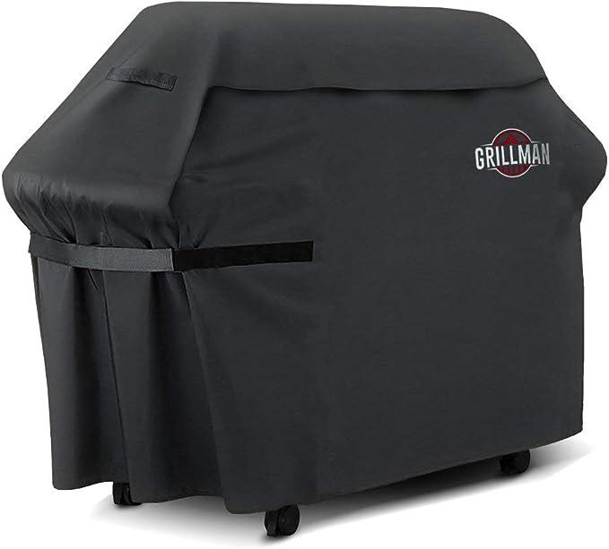 Housse pour barbecue de qualité premium de Grillman (58 pouces/147 cm), Housse résistante pour barbecue à gaz Weber, Brinkmann, Char Broil...etc. Résistante aux UV, à l'eau et aux déchirures