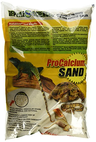 (Reptile Sciences Terrarium Sand for Aquarium, 10-Pound, Natural White)