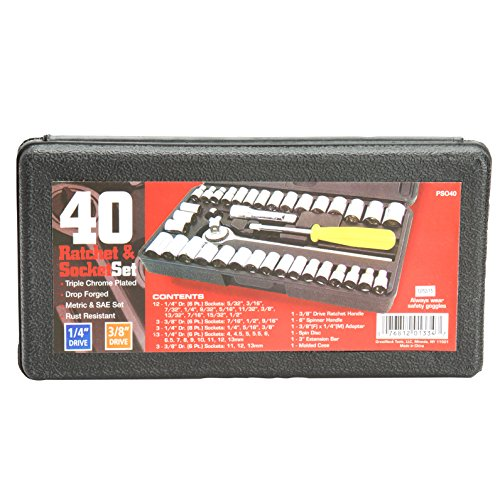 Great Neck Saw PSO40 Drive Socket Set, 1/4-Inch and 3/8-Inch...