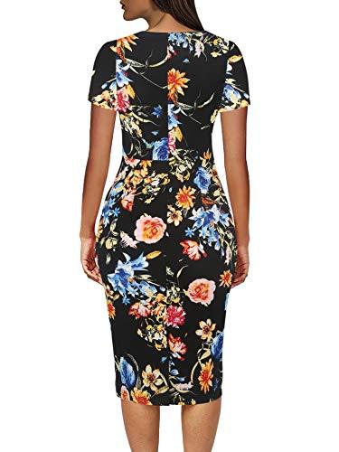 Neck Multi Women Spring Falbala Dresses Knee Floral Howme Fashional Length O I1gwCvx