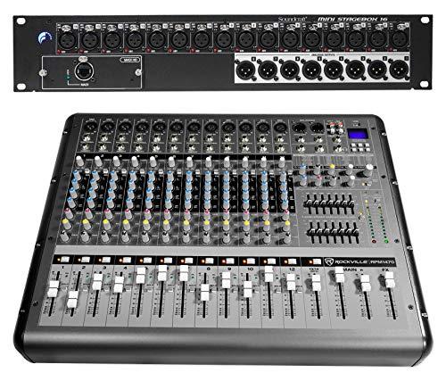 (Soundcraft Mini Stagebox 16R 16x8+14-Channel 6000w Powered Mixer w/USB, Effects)