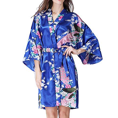 Primavera pigiama autunno WTDlove giapponese codice kimono Wear lingerie K home di accappatoio seta di cardigan signora all accappatoio e imitazione trdw7d