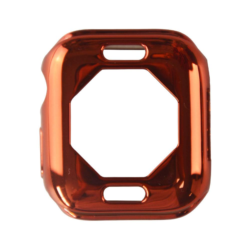 iumei Apple Watch Serie 4 Smart Watch Protection Frame, Fashion Quick Release Soft Sport Plating Ultra-Slim Protected Case Cover for Apple Watch Series 4 40mm (Orange)