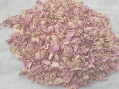 Pétalos de rosa secos - rosa Pastel y crema 100 G confeti ...