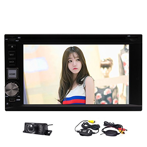 Newest EinCar Android7.1 Audio System Double Din 6.2 inch Touch Screen Car PC With Bluetooth GPS Navigation 1080p Video FM/AM DVD Radio Receiver Automotive Car Stereo Wifi + Wireless Rearview Camera by EinCar