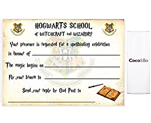 5 x cocobo magical wizarding hogwarts school party invitations with envelopes harry potter theme party decorations accessories - Harry Potter Party Invitations