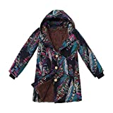 Women Hoodies Coats,HULKAY Hot Sale Clearance Oversize Top Cotton Jacket Plush and Velvet Thick Winter Jackets for Women(Blue,4XL)