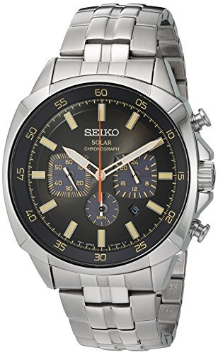 Seiko Men's Quartz Stainless Steel Casual Watch, Color:Si...
