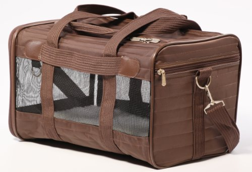 Sherpa Travel Original Deluxe Airline Approved Pet Carrier, Medium, Brown