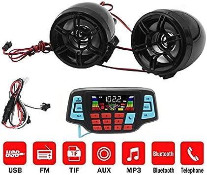 Sodial Motorrad Mp3 Musik Spieler Audio Freisprecheinrichtung Bluetooth Stereo Lautsprecher Fm Radio Wasserdichtes Audiosystem Auto