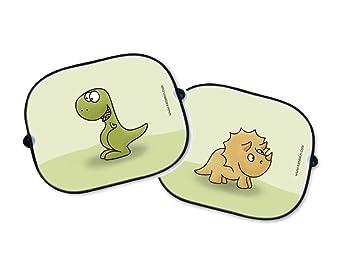 Auto Sonnenschutz Set Dinosaurier T Rex Und Triceratops Sonnenblende Schattenspender Babysitz Auto Kinder Sonnenschutzblende Baby