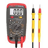DMiotech Digital Multimeter Battery Tester Battery Load Test Resistance Continuity Diode AC / DC Voltage Current Transistor  hFE Meter with LCD Display Smart-B