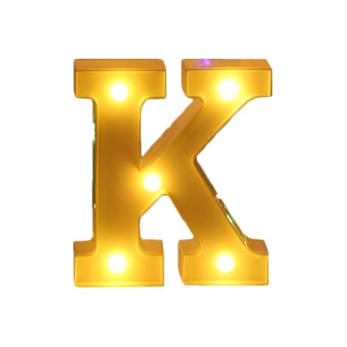 26 letras alfabeto 3D LED luz cartel señal luz interior ...