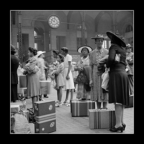 Pennsylvania Railroad Station (8 x 10 All Wood Framed Photo A Group Of African American Women Waiting For Their Trains At The Pennsylvania Railroad Station, New York City, 1942)