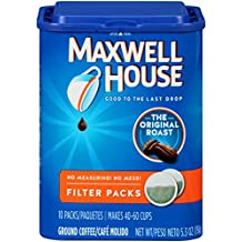 Maxwell House Coffee Ground Filter Packs, Original Roast, 10 Filter Packs,5.3 oz by Maxwell House