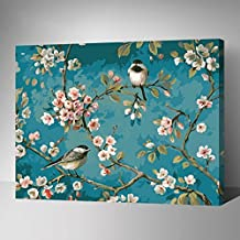 [WOODEN FRAME]Diy Oil Painting Paint By Number Kit-Like Birds In The Branches 1620 inch